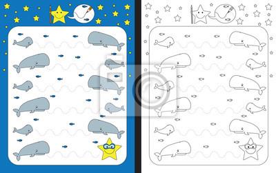 Vorschule arbeitsblatt leinwandbilder • bilder skizzierten, Aufgabe ...