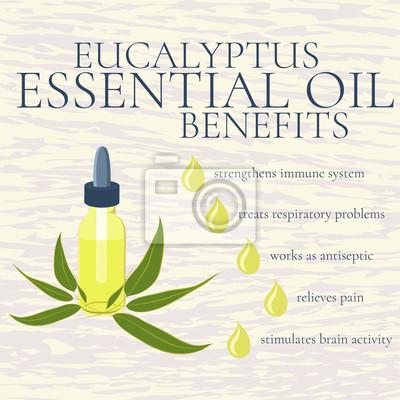Vorteile von eukalyptus ätherisches öl. infografiken. gründe ...