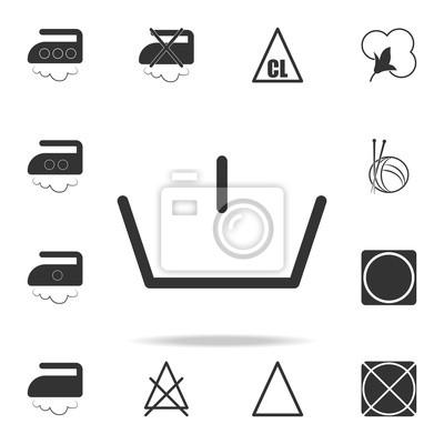 Vorwäsche Zeichen Auf Der Waschmaschine Symbol Ausführlicher