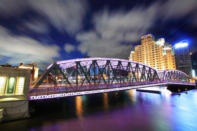 Waibaidu Brücke in Shanghai bei Nacht