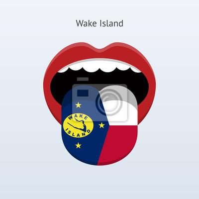 Wake Island Sprache. Abstrakt menschliche Zunge.