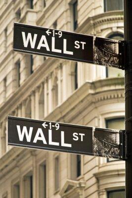Bild Wall street signs in New York City