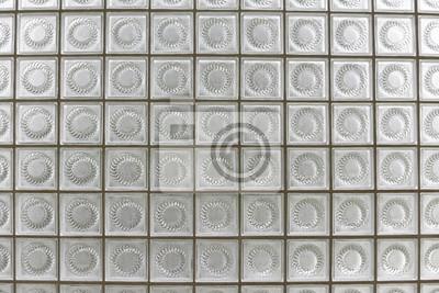 Wand aus glasbausteinen leinwandbilder • bilder schmuddelig, löschen ...