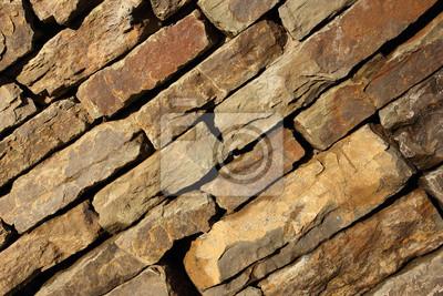 Charmant Bild Wand Aus Naturstein Auf Der Diagonale