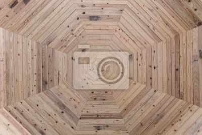 Wand Holz sechseck Formen Hintergrund Textur