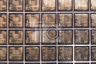 Wand mit glasbausteinen leinwandbilder • bilder Baustoff, Fassade ...