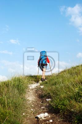 Wandern Frau mit Rucksack