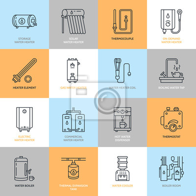 Warmwasserbereiter, kessel, thermostat, elektro-, gas-, solar ...