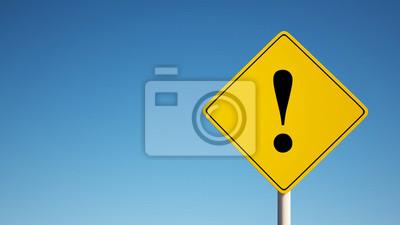 Warnschild mit Clipping-Pfad