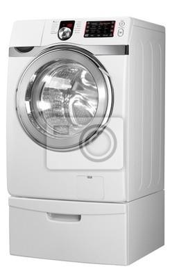 Bild Waschmaschine auf dem weißen Hintergrund mit Beschneidungspfad.