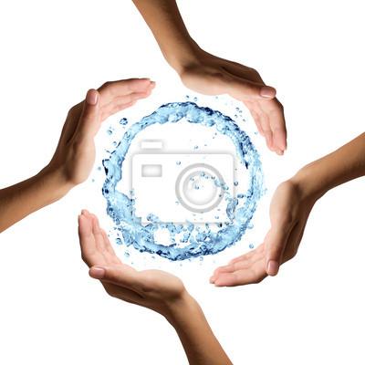 Wasser sparen, verschwende es nicht