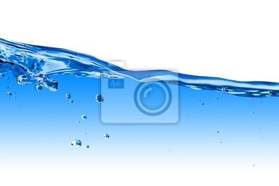 Wasser Welle mit Blasen isoliert auf weiß