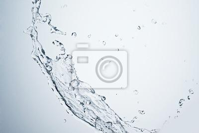 Bild Wasserspritzen auf weißem Hintergrund