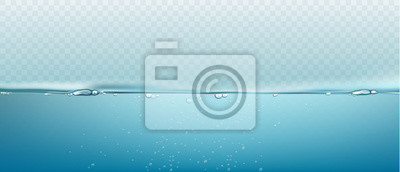 Bild Water vector wave transparent surface with bubbles of air. Vector illustration