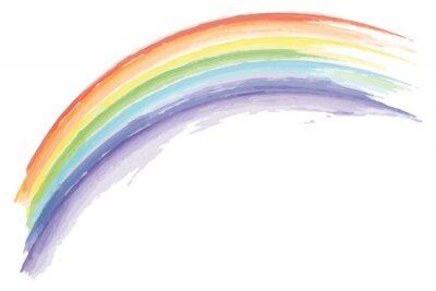 Bild watercolor rainbow isolated on white background