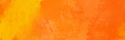 Bild Watercolor red and orange color abstract banner.