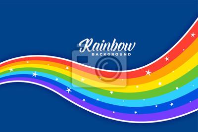 Bild wavy colorful rainbow background design