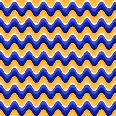 Bild Wavy nahtlose Muster mit optischer Täuschung der Bewegung. Swatch ist beigefügt
