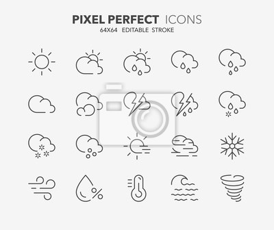 Bild weather thin line icons 1