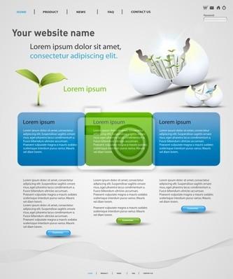 Web-Design-Vektor-Vorlage