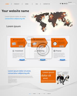 Web-Design-Vektor-Vorlage, Erde explosiven Elemente