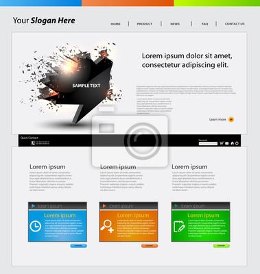 Web-Design-Vektor-Vorlage, mit Sprechblase