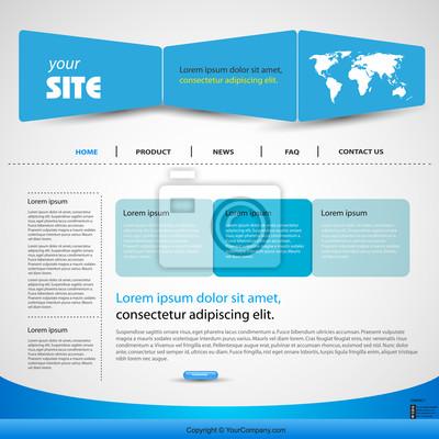 Web-Design-Vorlage Vektor-blauen, leicht bearbeitet
