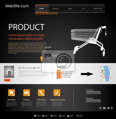 Web Design Website-Elementen Vorlage