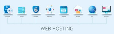 Bild Web hosting infographic in 3D style