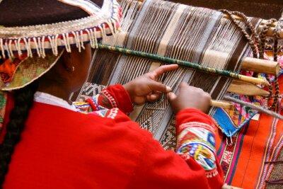 Bild Weberin in Cusco / Peru