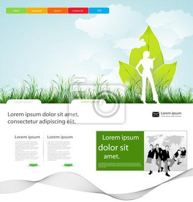 Webseite Geschäft Layout-Design mit Menschen