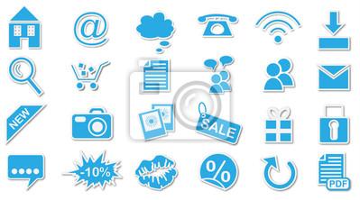 Bild Webseite Icons / Buttons Set