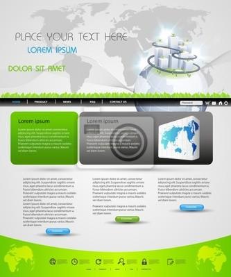 Webseite Template-Design für Business-Homepage,