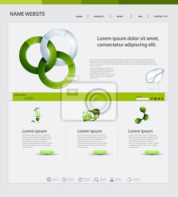 Website Design, Ökologie Theme