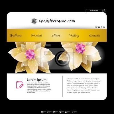 Website-Design-Vorlage, Blumen-Design