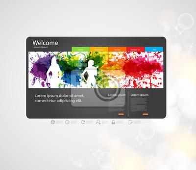 Website-Design-Vorlage mit Silhouette