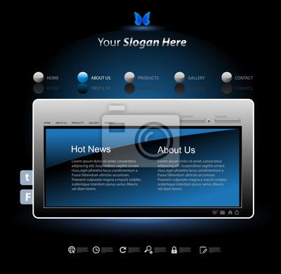 Website-Design-Vorlage modernen