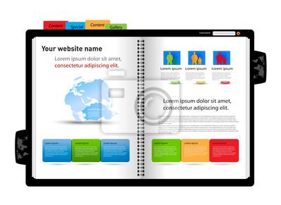 Website-Design-Vorlage, Tagebuch Design