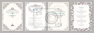 Bild Wedding and restaurant menu.