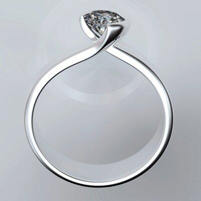 Bild Wedding Ring mit Diamant