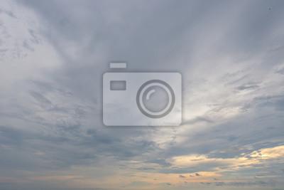 Weiche Wolke im Himmel