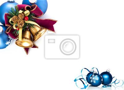 Weihnachten Bogen und Ornamente mit Kopie Raum