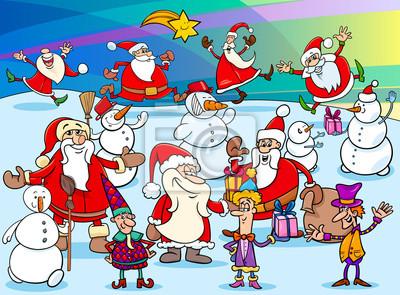 Weihnachten Animation.Bild Weihnachten Cartoon Zeichen Gruppe