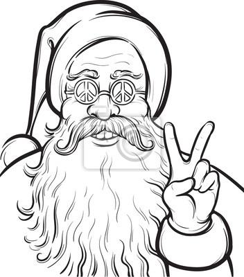 Weihnachten Hippie Malvorlagen Mit Weihnachtsmann Leinwandbilder