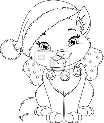Bild Weihnachten Katze Malvorlage