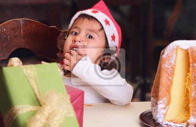 Weihnachten Kind Finger lecken Zucker