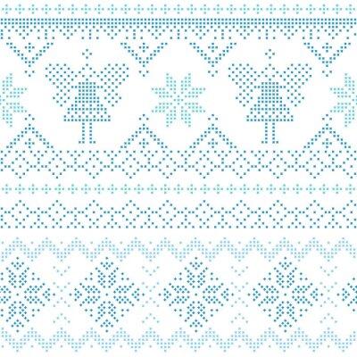 Bild Weihnachten skandinavischen Karte - für Einladung, Tapeten