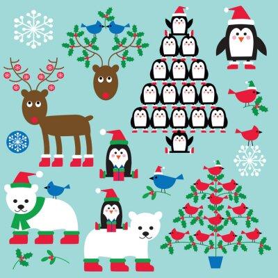 Bilder Weihnachten Clipart.Bild Weihnachten Tiere Und Bäume Clipart