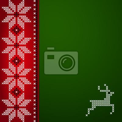 Weihnachten Vektor Hintergrund mit Stickerei