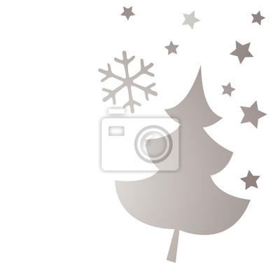 Sterne Für Weihnachtsbaum.Bild Weihnachtsbaum Silberne Sterne Schnee